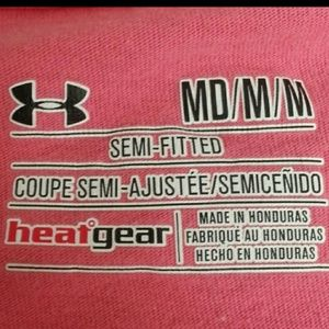Under Armour Tops - UNDER ARMOUR Pink Athletic Tee Fight Sweat Defeat